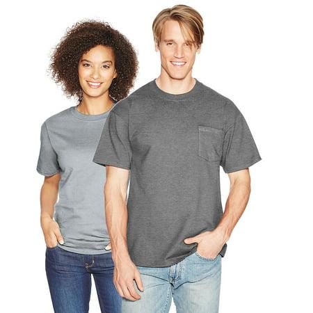 2154869b Hanes - Hanes Beefy-T Adult Pocket T-Shirt - 5190 - Walmart.com