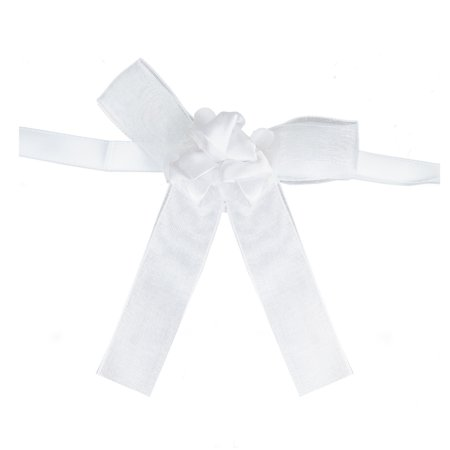 BalsaCircle 4 pcs White Mini Bows with Roses - Wedding Favors Birthday Baby Shower Party Candles Decorations Accessories Birthday Candle Favors