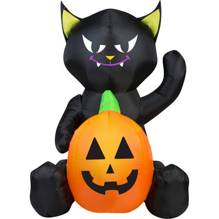 Gemmy Airblown Inflatable 4' X 3' Cat Pumpkin Duo Halloween Decoration - Halloween Duo Ideas For Friends