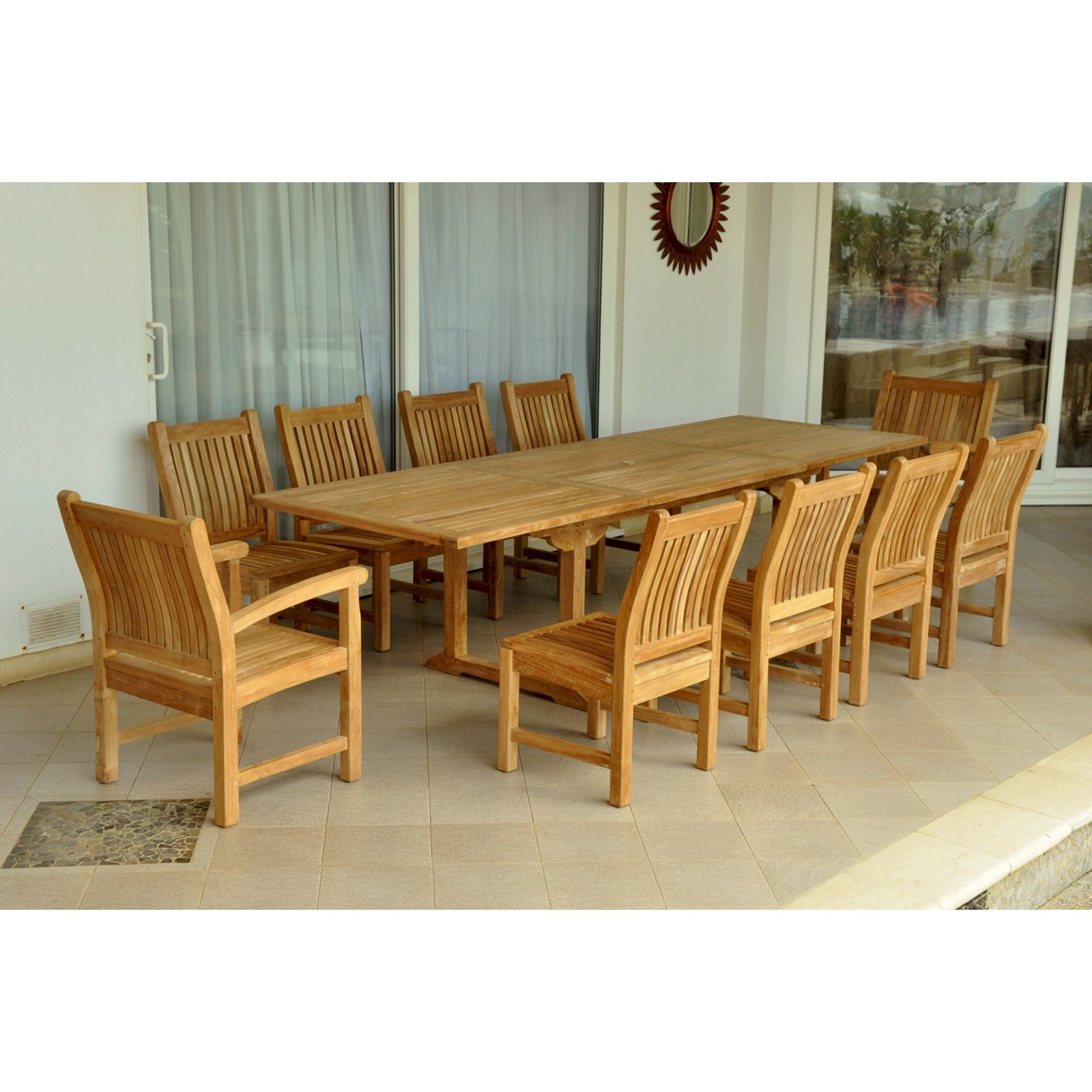 Anderson Teak Sahara 11 Piece Patio Dining Set