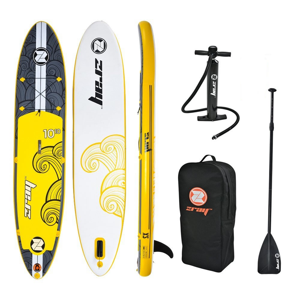 """Z-Ray X2 SUP 10'10"""" Inflatable Stand-Up Paddleboard Set, 6 Inches Thick by"""