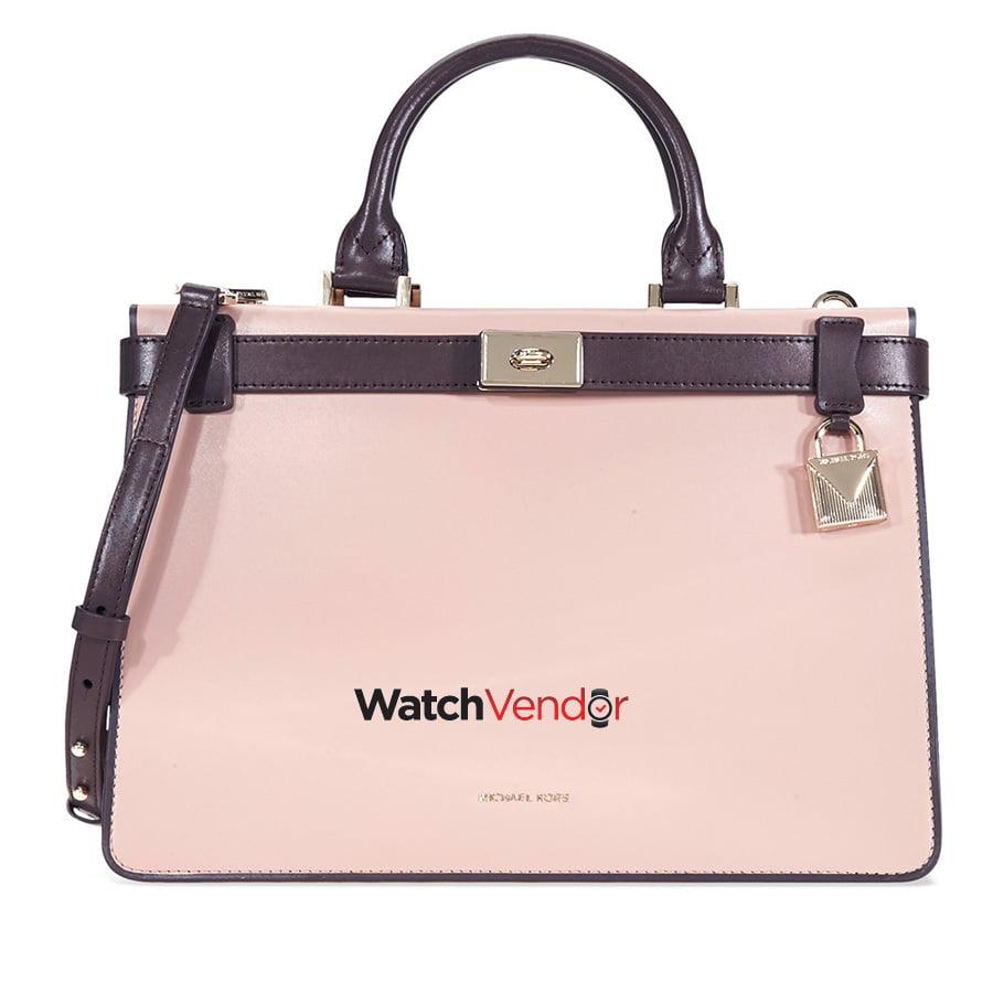 Michael Kors Tatiana Medium Leather Satchel-Pink/Purple - image 4 de 4