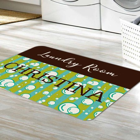 (Personalized Laundry Room Floor Mat)