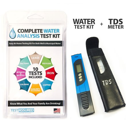 Complete Water Test Kit With TDS Meter - Home Testing With Results In (H2o Test Meters)