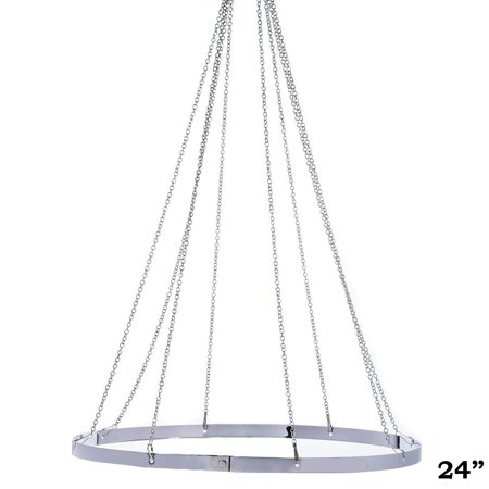 """BalsaCircle 24"""" Ceiling Draping Canopy Hoop Hardware Kit for 8 Panels - Wedding Ceremony Reception Party Home Decorations"""