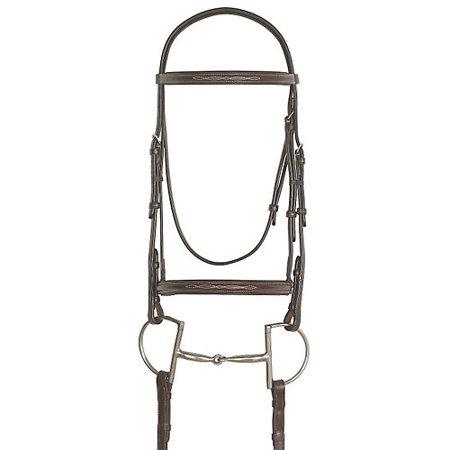 (Ovation Fancy Raised Padded Bridle Pony Dk Brown)