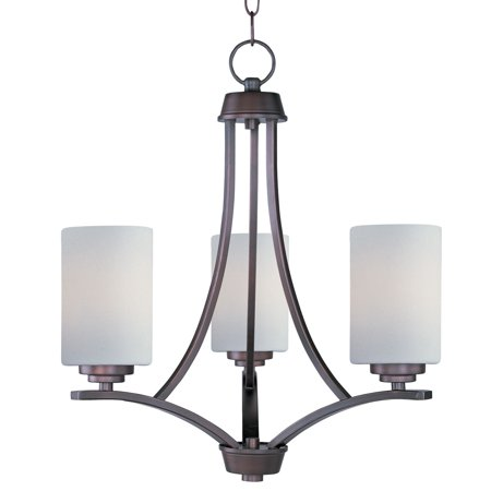 - Mini Chandeliers 3 Light Bulb Fixture With Oil Rubbed Bronze Finish Medium Bulb Type 18 inch 180 Watts