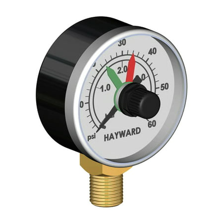 Hayward ECX271261 Pressure Gauge with Adjustable Dial for Pool Filters