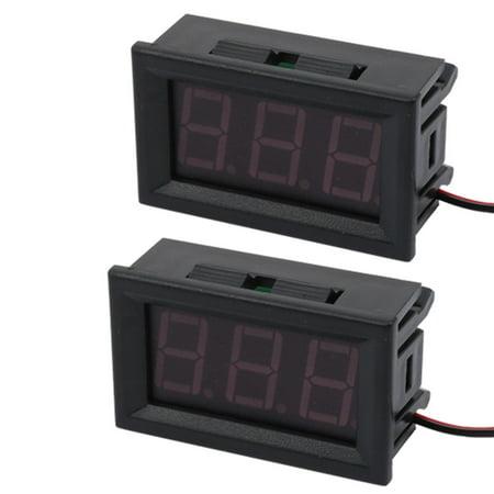 Unique Bargains 2pcs DC4.5V-30V  Digital Voltmeter Reverse Polarity Protection 48mmx29mmx22mm