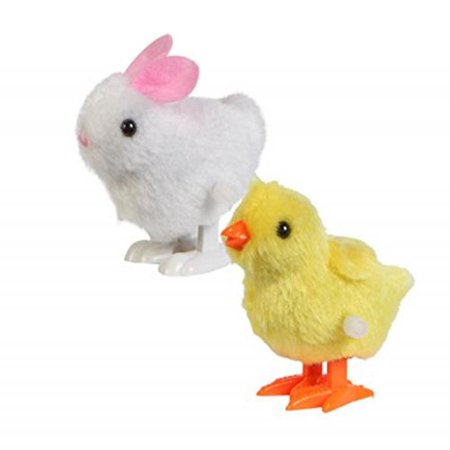 Cheek Bunny - Plush Wind-up Hopping Friends Chicks and Bunnies, 3