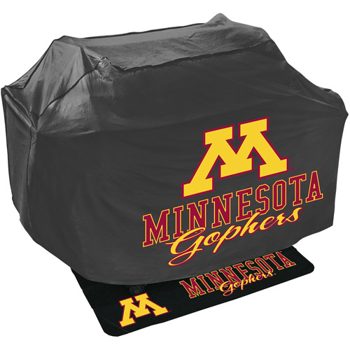 Mr. Bar-B-Q NCAA Grill Cover and Grill Mat Set, University of Minnesota Golden Gophers