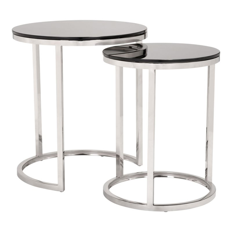 Rem Coffee Table Sets Black & Stainless by Zuo Modern