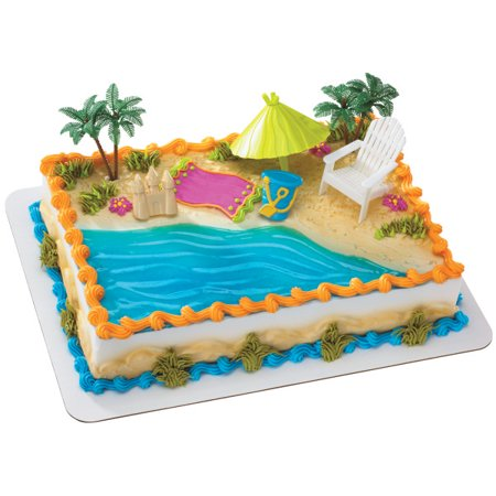 Beach Chair & Umbrella Cake Topper