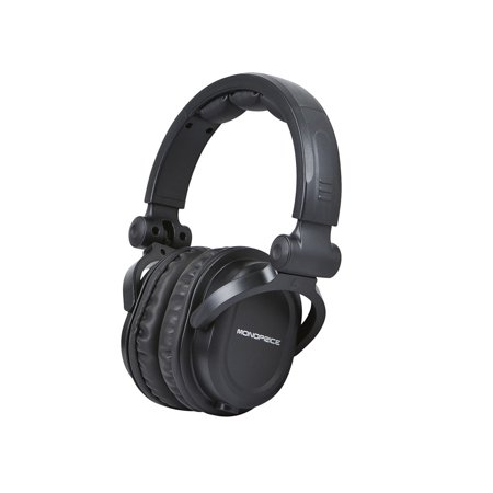 Monoprice Premium Hi-Fi DJ Style Over-the-Ear Pro Headphones With A Single-button Inline (Best Beginner Dj Headphones)