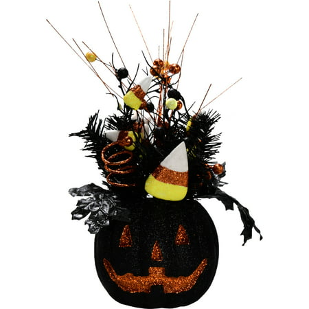 Halloween Black Foam Pumpkin Arrangement (First Halloween Pumpkin)