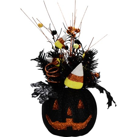 Halloween Black Foam Pumpkin Arrangement (Baking Halloween Pumpkin)