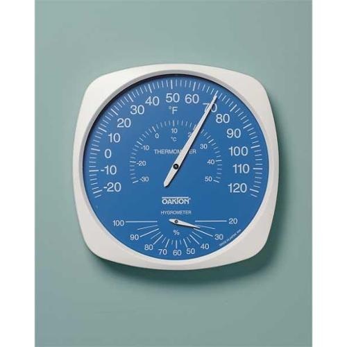 OAKTON WD-35700-20 Indoor Analog Hygrometer, -22 to 122 F