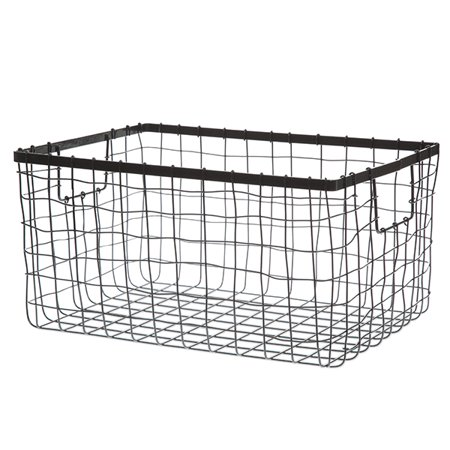 Stainless Steel Rinsing Basket - Stella Rect Steel Wire Basket - Medium 13in