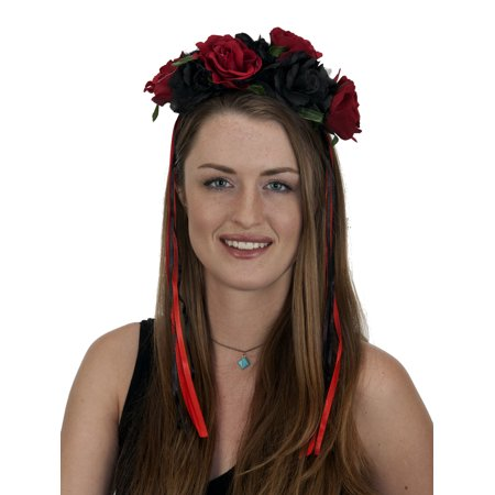 Day Of The Dead Flowered Headband 27048 - Dread Headband