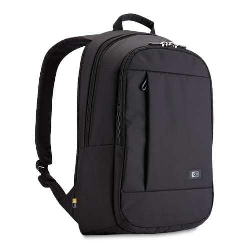 "Case Logic Laptop Backpack - Fits Notebook PCs up to 15.6"", Nylon, Black - MLBP115BLACK"