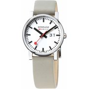 Mens EVO Big Date Taupe Leather Strap White dial Silver Watch - A627.30303.11SBK