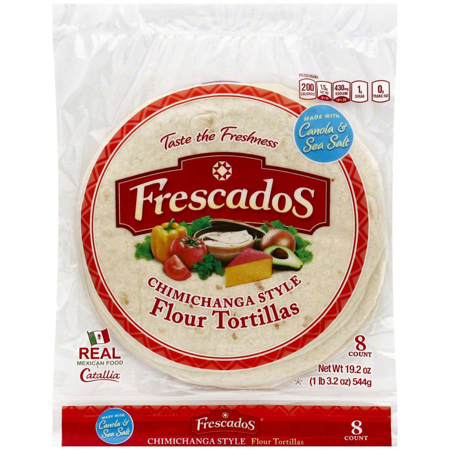 Frescados Chimichanga Style Flour Tortillas, 16 oz, (Pack of 12)