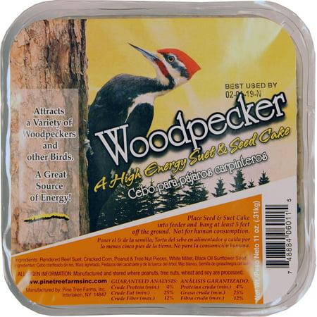 Pine Tree Farms Inc-Birdwatchers Best Suet Cake- Woodpecker 11 Ounce
