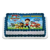 Paw Patrol! Quarter Sheet Edible Photo Birthday Cake Topper. ~ Personalized! 1/4 Sheet