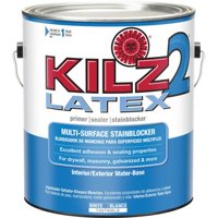 KILZ 2 White Water-Based Latex Interior/Exterior Multi-Surface Primer, Sealer and Stainblocker - Low VOC Formula