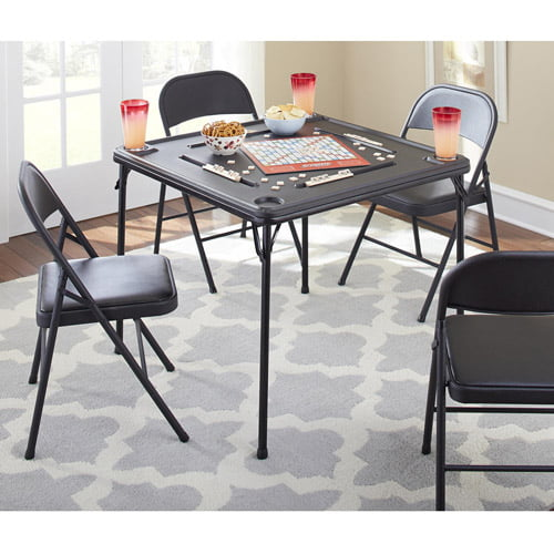 sc 1 st  Walmart & Cosco 5-Piece Folding Table and Chair Set Multiple Colors - Walmart.com