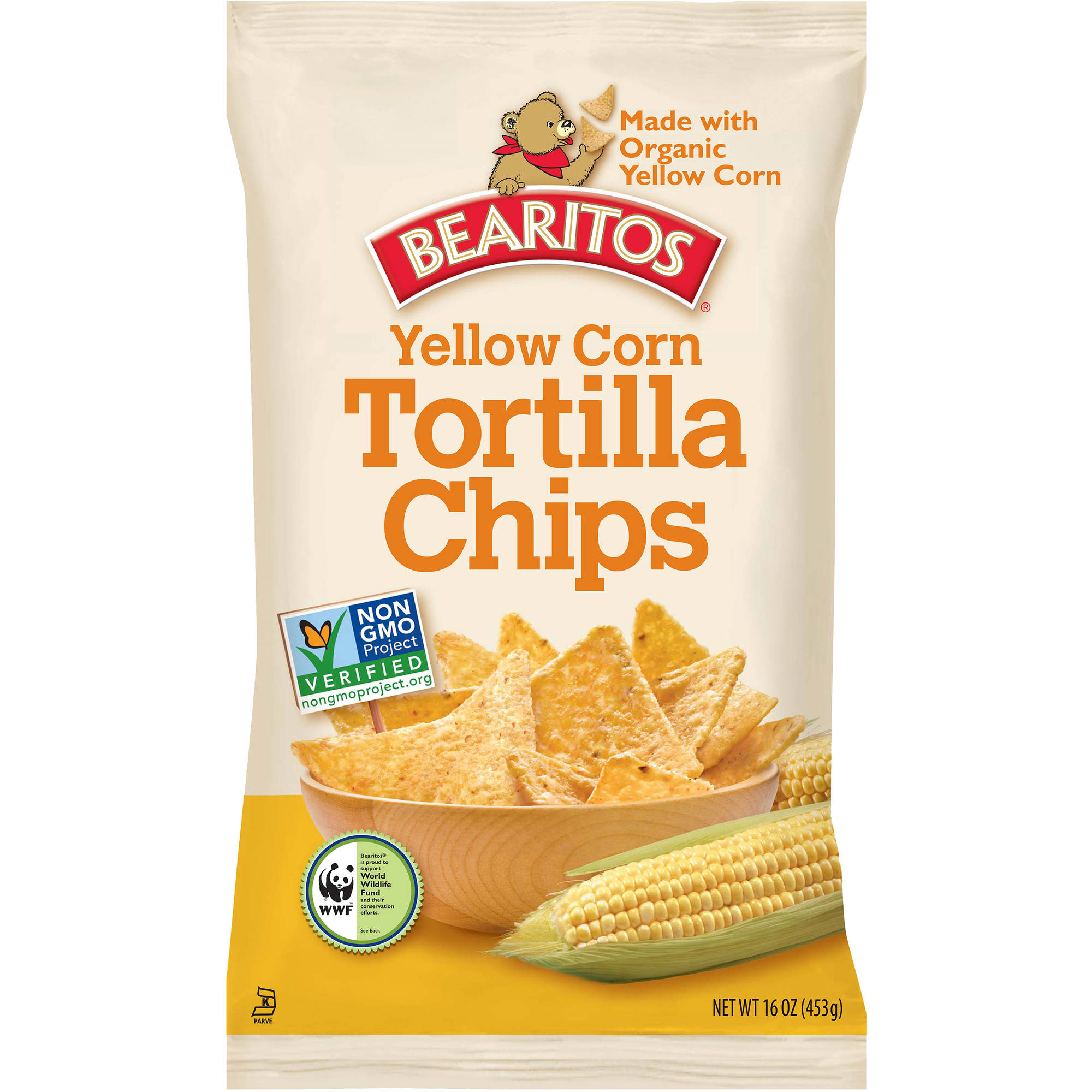 Bearitos Yellow Corn Tortilla Chips, 16 oz