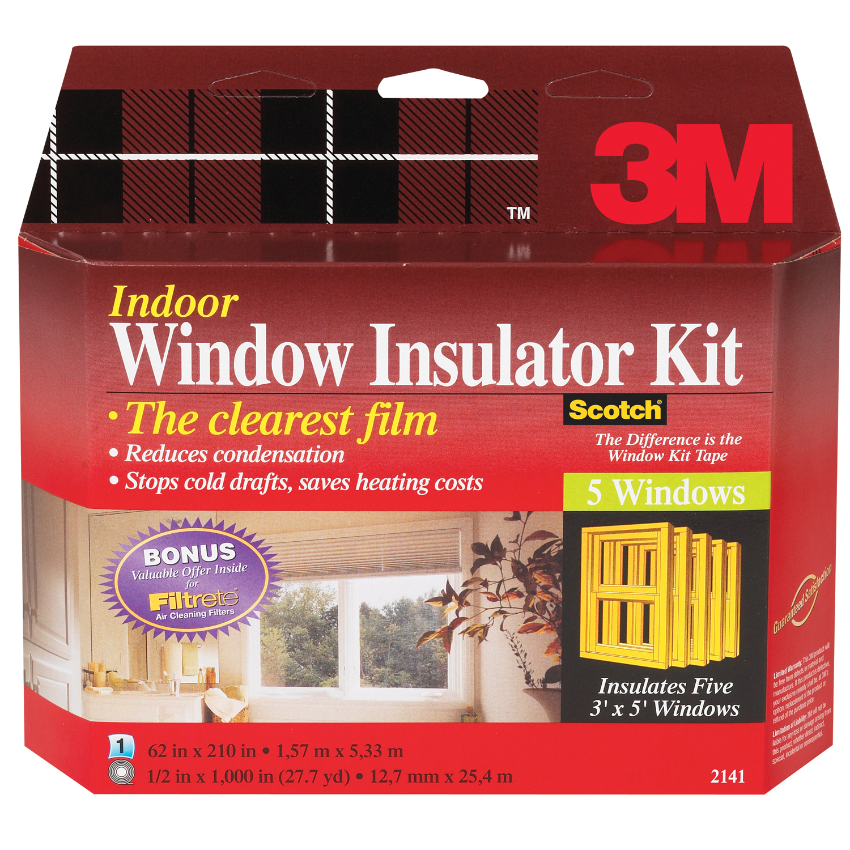 3M 2141W-6 Interior Shrink Film Window Kit