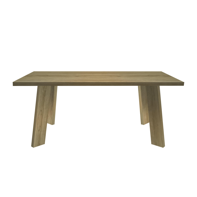Sylvan Rectangular Modern Dark Oak Finish Indoor Dining Table Walmart Com Walmart Com