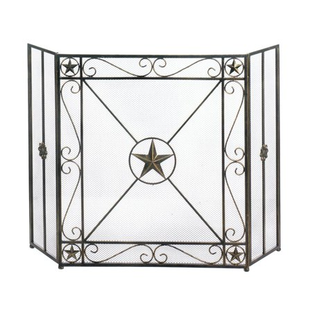 Fireplace Screens Decorative Iron Western Star Rustic Fireplace Screen
