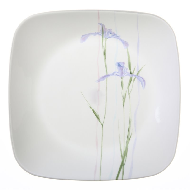 Corelle Square Shadow Iris Lunch Plate