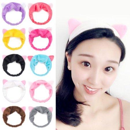 New Cat Ears Women Elastic Stretch Sports Hairband Yoga Makeup Headband Head Wrap](Yoda Cat Ears)
