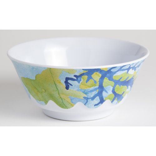 Galleyware Company Yacht and Home Sea 20 oz. Turtle Melamine Non-Skid Soup/Cereal Bowl (Set of 6)