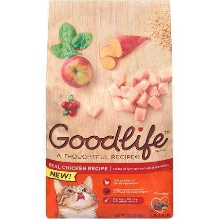 Good Life Real Chicken Recipe Chicken Dry Cat Food  7 Lb