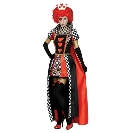 Womens Queen of Hearts Checkerboard Costume](Red Queen Alice In Wonderland Costume)