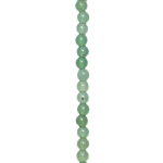 - Expo Int'l 4mm x 4mm Green Aventurine Round Beads 8 Inch Strand