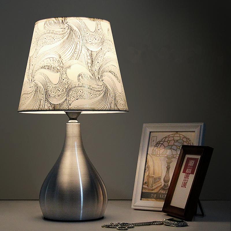 Modern Aluminum LED Read Desk Table Lamp Bedside Eye-Care Night Light Home Decor Bedroom With Bulb