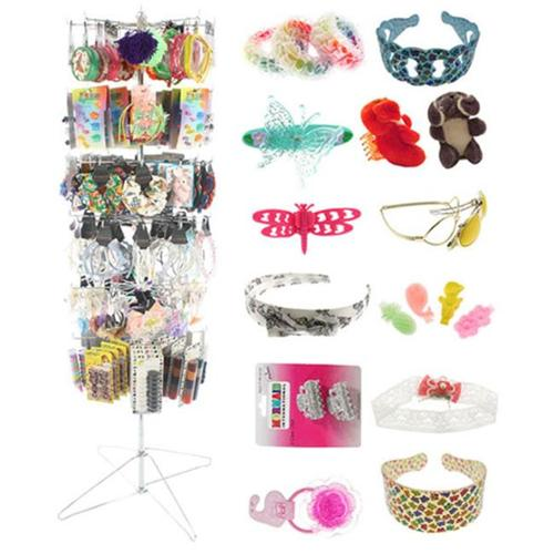 Bulk Buys Childrens Hair Accessories Display - Case of 1200