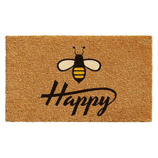Calloway Mills Bee Happy Outdoor Coir Doormat 17 X 29 Walmart Com Walmart Com