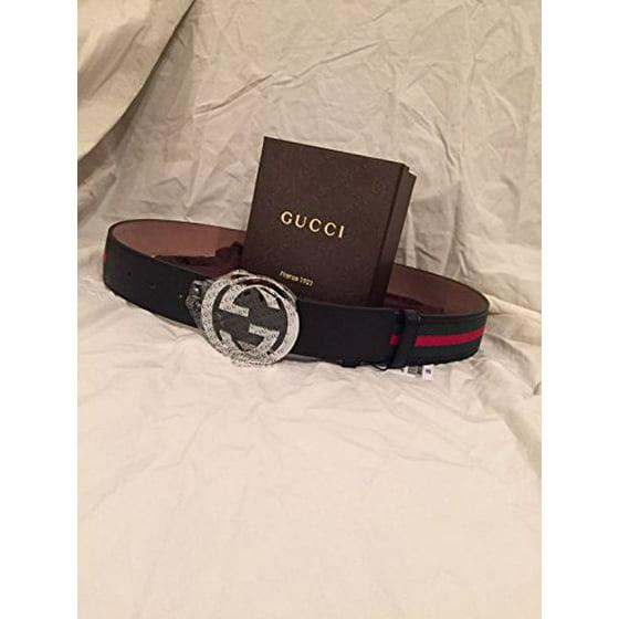 7e95b5d42 Gucci - 100% Authentic GG Silver Buckle Gucci Black leather belt ...