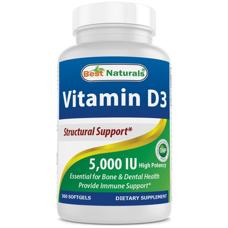 Best Naturals Vitamin D3 5000 IU Supplement, 360