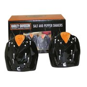 Harley-Davidson Leather Jacket Salt & Pepper Shakers