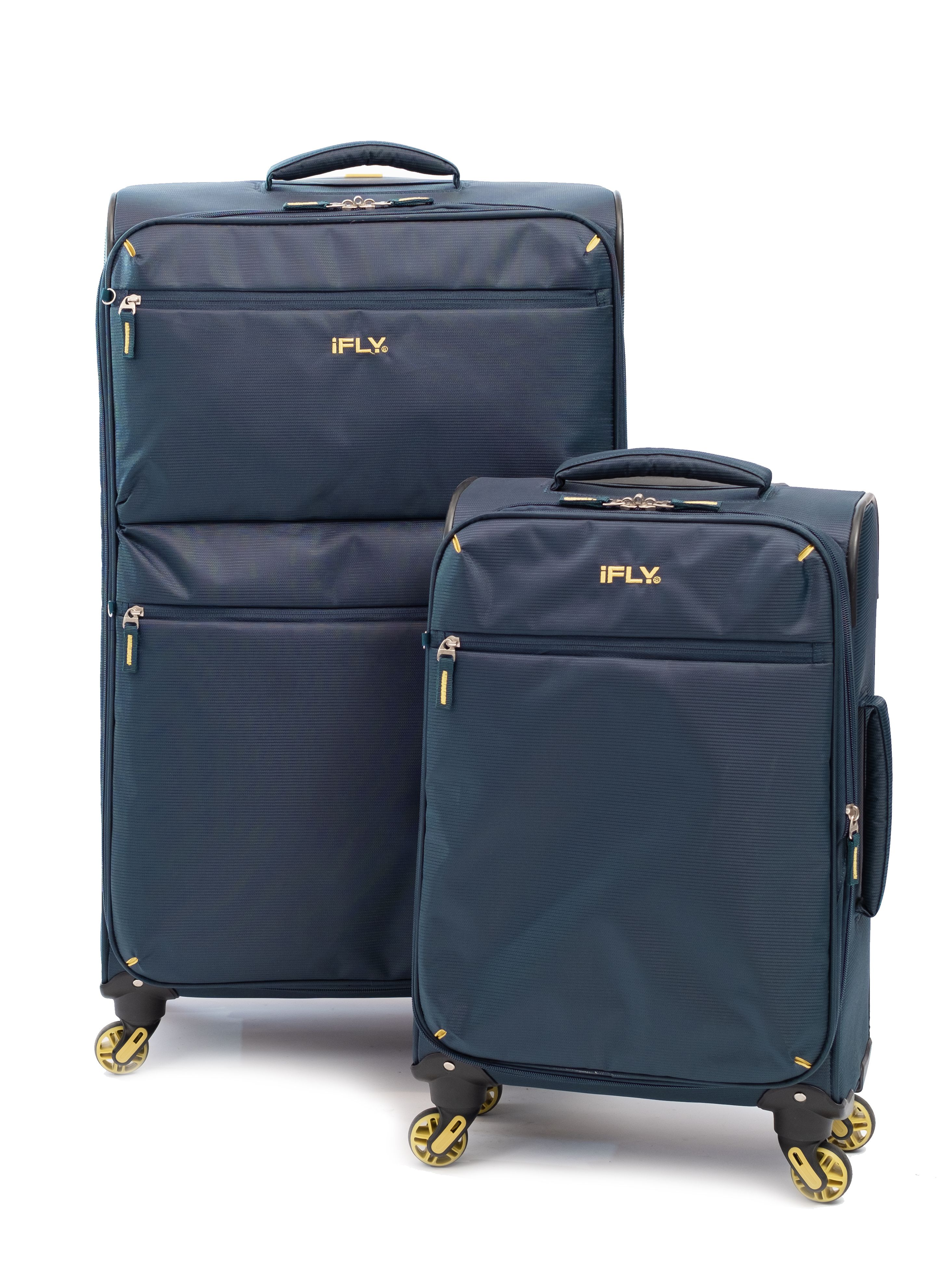 iFLY Soft Sided Luggage Ez Glider 2 pcs set, Navy