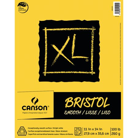 Canson XL Bristol Pad, Smooth, 11in x