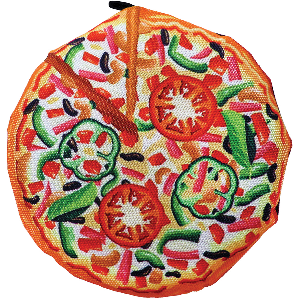"Scoochzilla Tough New York Pizza Dog Toy 7""-"