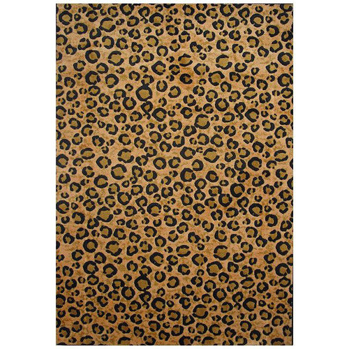 L.A. Rugs Supreme Yellow/Black Leopard Print Area Rug